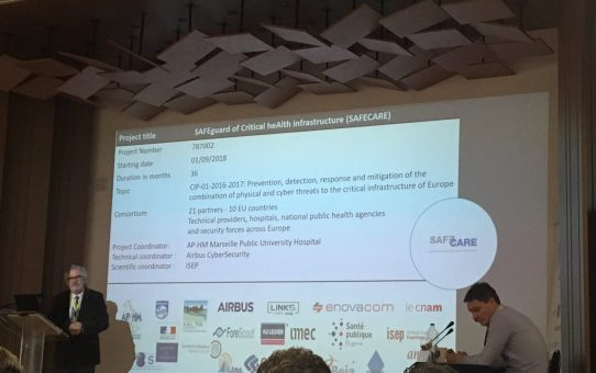 SAFECARE Project Presented at the Mediterranean Security Event 2019