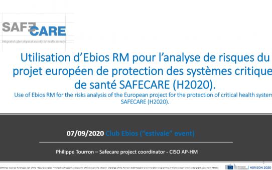 SAFECARE Coordinator Philippe Tourron Presents at Club EBIOS